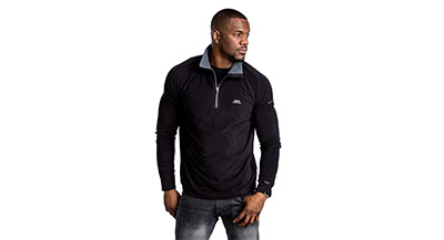 Trespass Mens Fleece - Black