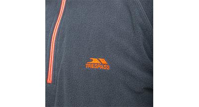 Trespass Mens Fleece - Carbon